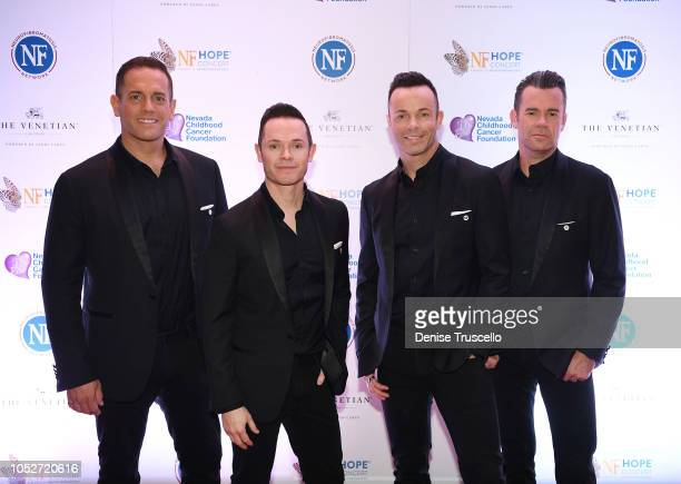 Musical group Human Nature arrive at Las Vegas's 8th annual NF Hope Concert A Benefit for Neurofibromatosis at the Palazzo Theatre at The Palazzo Las...