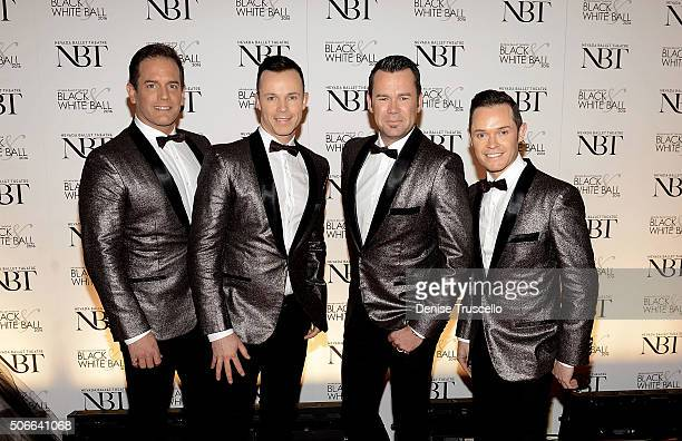 Musical group Human Nature arrive at Nevada Ballet Theater's 32nd Annual Black White Ball at Wynn Las Vegas on January 23 2016 in Las Vegas Nevada