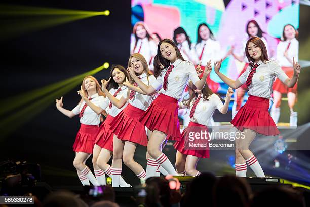 Musical group I.O.I perform at KCON LA 2016 at L.A. LIVE on July 30, 2016 in Los Angeles, California.