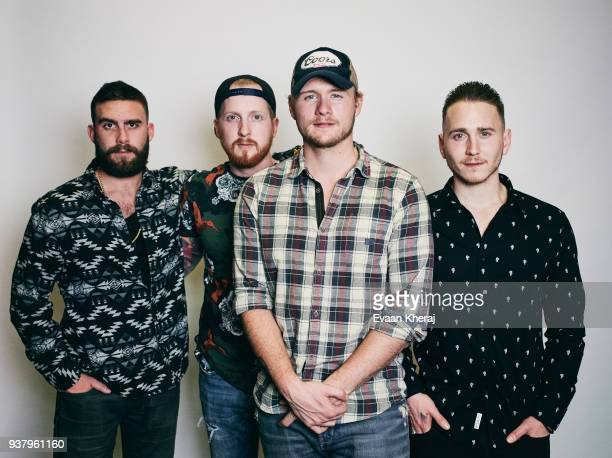 Musical Group James Barker Band poses for a portrait at the YouTube x Getty Images Portrait Studio at 2018 Juno's Gala Awards Dinner on MARCH 25th...