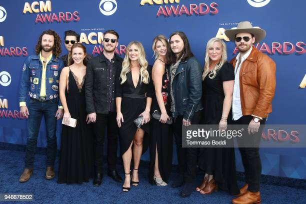 Musical group Lanco and guests attend the 53rd Academy of Country Music Awards at MGM Grand Garden Arena on April 15 2018 in Las Vegas Nevada