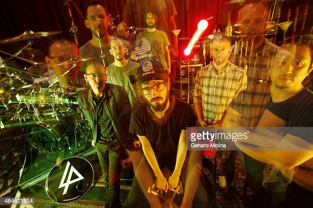 Musical group Linkin Park with band members Chester Bennington Mike Shinoda Rob Bourdon Brad Delson Dave Phoenix Farrell and Joe Hahn are...