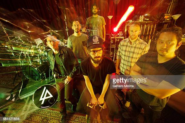 Musical group Linkin Park with band members Chester Bennington Mike Shinoda Rob Bourdon Brad Delson Dave 'Phoenix' Farrell and Joe Hahn are...