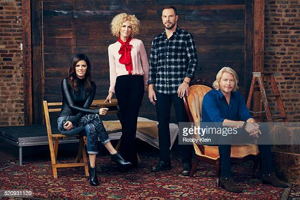 Musical Group Little Big Town Karen Fairchild Kimberly Schlapman Jimi Westbrook Phillip Sweet are for Billboard Magazine on November 11 2015 in...