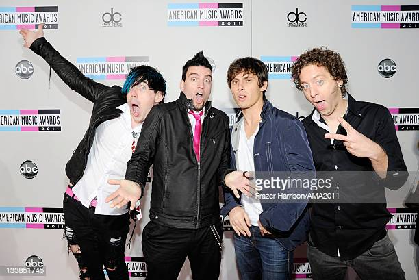 Musical group Marianas Trench arrives at the 2011 American Music Awards held at Nokia Theatre LA LIVE on November 20 2011 in Los Angeles California