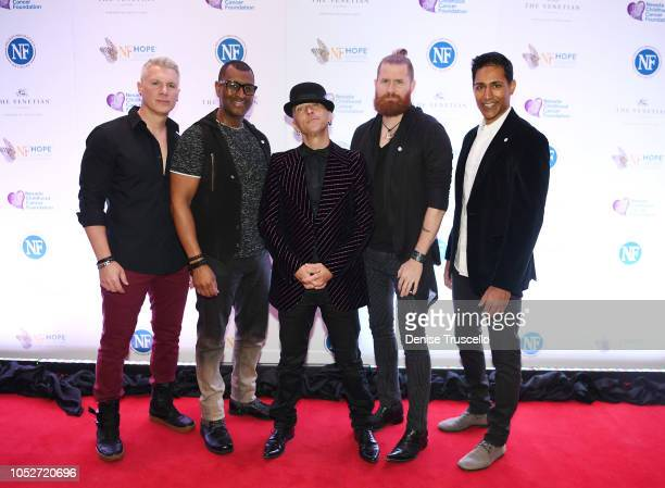 Musical group MO5AIC arrive at Las Vegas's 8th annual NF Hope Concert A Benefit for Neurofibromatosis at the Palazzo Theatre at The Palazzo Las Vegas...