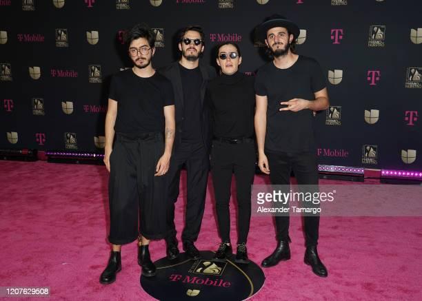 Musical group Morat attends Univision's Premio Lo Nuestro 2020 at AmericanAirlines Arena on February 20 2020 in Miami Florida
