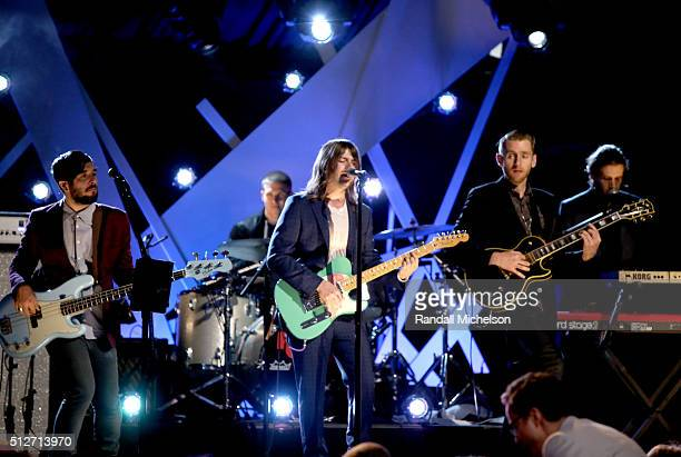 Musical group Rooney performs onstage during the 2016 Film Independent Spirit Awards on February 27, 2016 in Santa Monica, California.