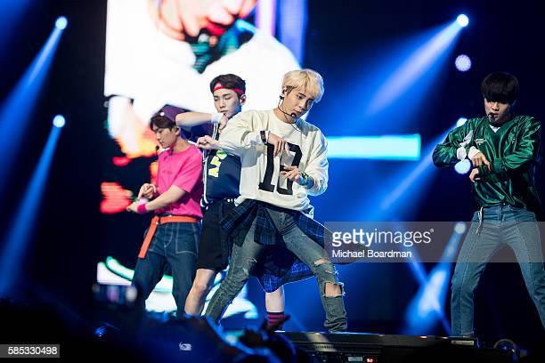 Musical group Shinee perform at KCON LA 2016 at LA LIVE on July 30 2016 in Los Angeles California