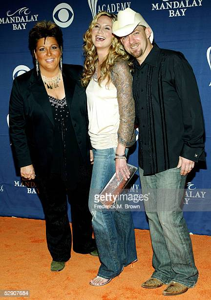 Musical Group Sugarland arrive at the 40th Annual Academy Country Music Awards at Mandalay Bay Resort Casino on May 17 2005 in Las Vegas Nevada