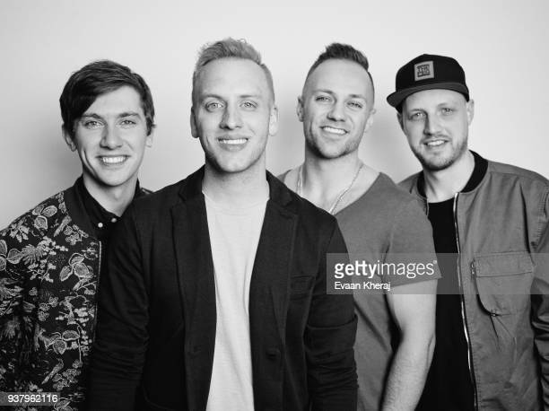 Musical group The Color poses for a portrait at the YouTube x Getty Images Portrait Studio at 2018 Juno's Gala Awards Dinner on MARCH 25th 2018 in...