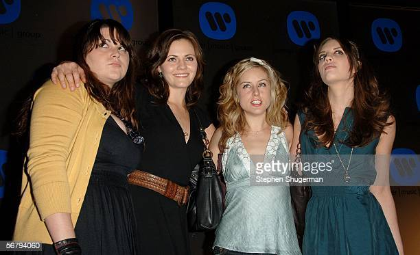 Musical Group The Donnas arrive at the Warner Music Group 2006 Grammy After Party held at the Pacific Design Center on February 8 2006 in Los Angeles...