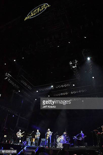 Musical group The Shins perform onstage during day 1 of the 2016 Life Is Beautiful festival on September 23 2016 in Las Vegas Nevada
