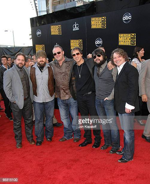 Musical group the Zac Brown Band arrives at the 2009 American Music Awards at Nokia Theatre LA Live on November 22 2009 in Los Angeles California