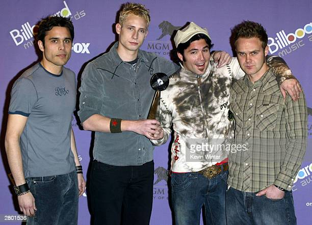 Musical Group Trapt atend the 2003 Billboard Music Awards at the MGM Grand Garden Arena December 10 2003 in Las Vegas Nevada