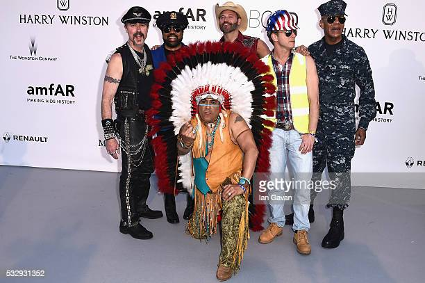 Musical group Village People arrive at amfAR's 23rd Cinema Against AIDS Gala at Hotel du CapEdenRoc on May 19 2016 in Cap d'Antibes France