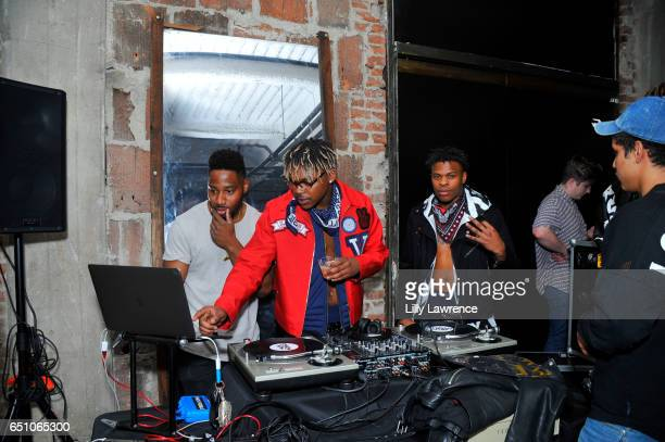 Musical group WAV3POP performs at Karen Bystedt's 'Kings And Queens' exhibition on March 9 2017 in Los Angeles California