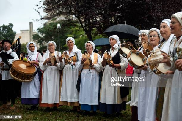 Musical groups accompany the historical reenactment of the landing of Charles V in the town of Laredo Cantabria in 1556 when he was heading for his...