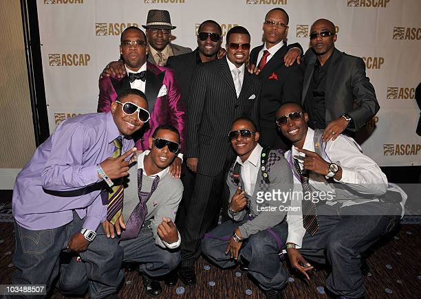 Musical groups New Edition and One inside the press room at the 2008 ASCAP Rhythm and Soul Awards at the Beverly Hilton Hotel on June 23 2008 in Los...