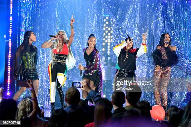Musical groups SaltNPepa and En Vogue perform onstage during the 2018 Billboard Music Awards at MGM Grand Garden Arena on May 20 2018 in Las Vegas...