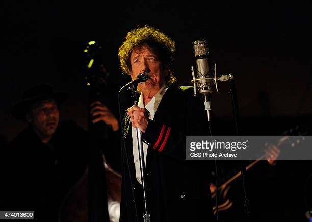 Musical guest Bob Dylan performs on the Late Show with David Letterman Tuesday May 19 2015 on the CBS Television Network
