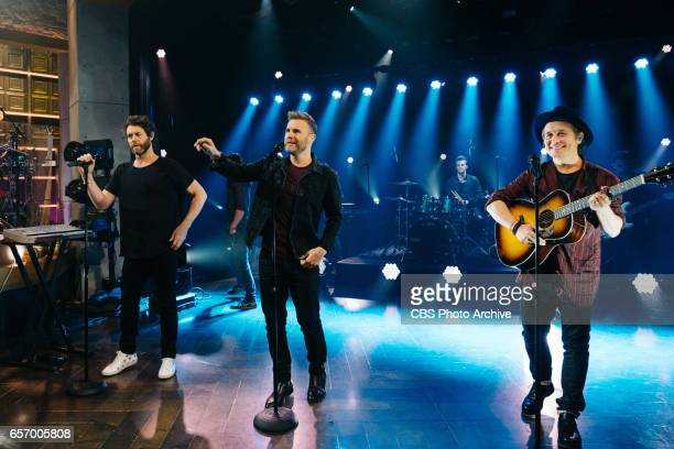 Musical guest Take That performs during The Late Late Show with James Corden Tuesday January 24 2017 On The CBS Television Network
