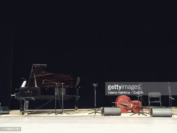 musical instruments on stage - nizhny novgorod oblast stock photos and pictures