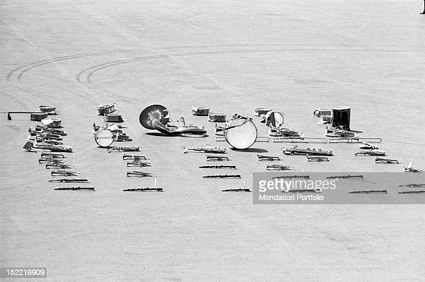 Musical instruments placed on the ground Addis Ababa November 1966