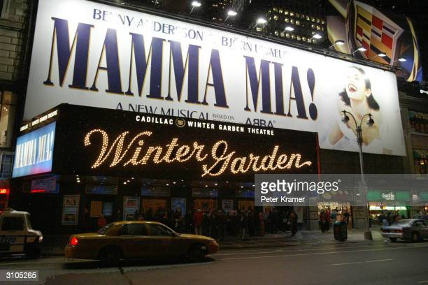 Musical Mama Mia at the Cadillac Winter Garden Theatre March 17 2004 in New York City