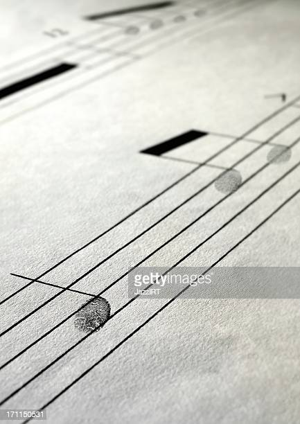 Musical paper notes treble