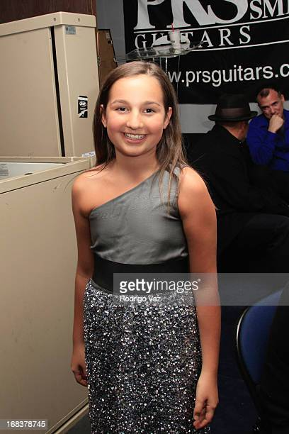 Musical prodigy Emily Bear attends the Emily Bear Record Release Party at the Jazz Bakery Musicians Institute Concert Center on May 8 2013 in...