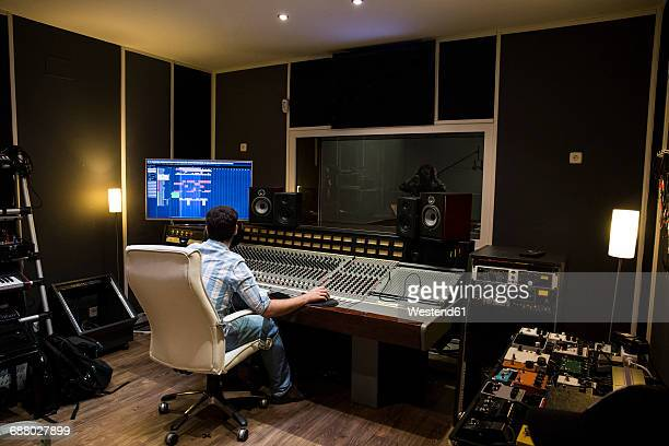 musical recording in a recording studio - recording studio stock pictures, royalty-free photos & images