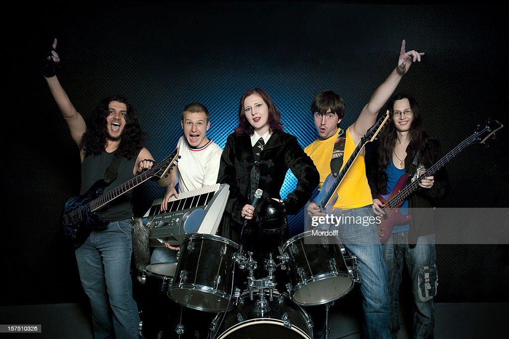 Musical rock band : Stock Photo