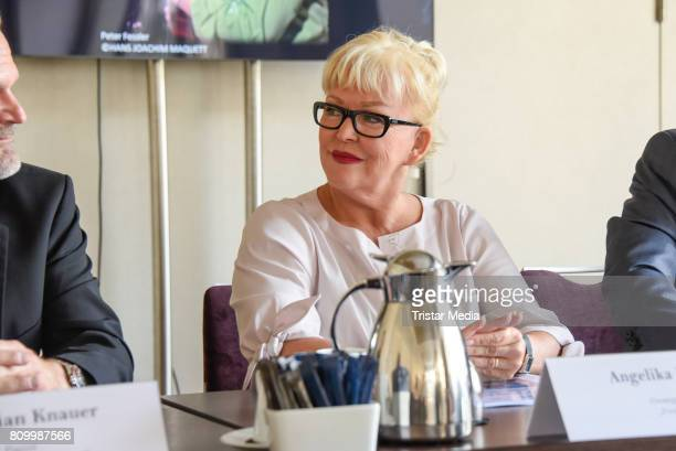 Musical singer Angelika Milster during the Press Conference Classic Open Air 2017 on July 6 2017 in Berlin Germany