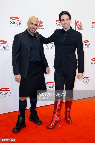 Musical singer Kristopher WeinsteinStorey and musical singer Philipp Buettner attend the 'Kinky Boots' Musical Premiere at Stage Operettenhaus on...