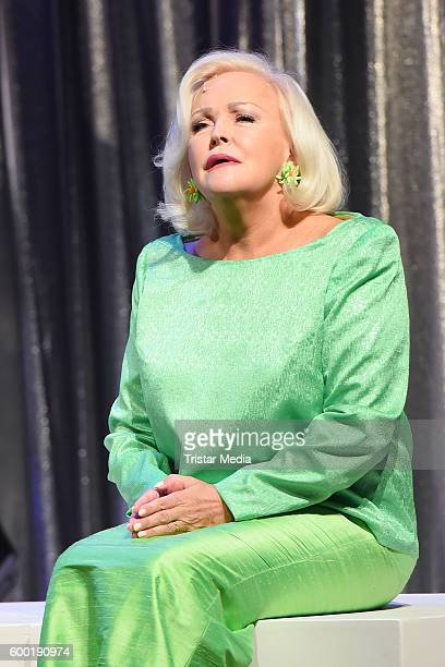 Musical star Angelika Milster attends the 'Doris Day Day by Day' Photocall on September 7 2016 in Berlin Germany