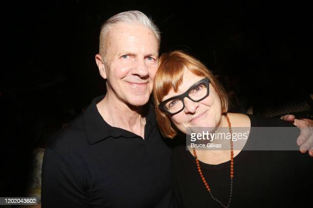 Musical Supervisor David Caddick and Associate Musical Supervisor Kristen Blodgette pose at the 32nd Anniversary Performance and Party for The...