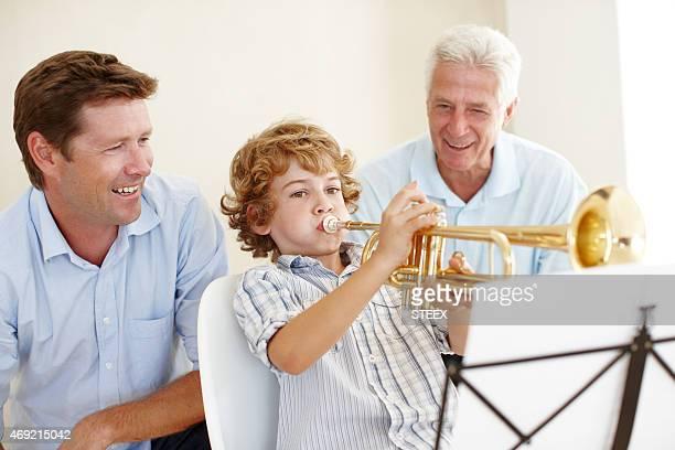 Spettacoli musicali viene eseguito in questa famiglia