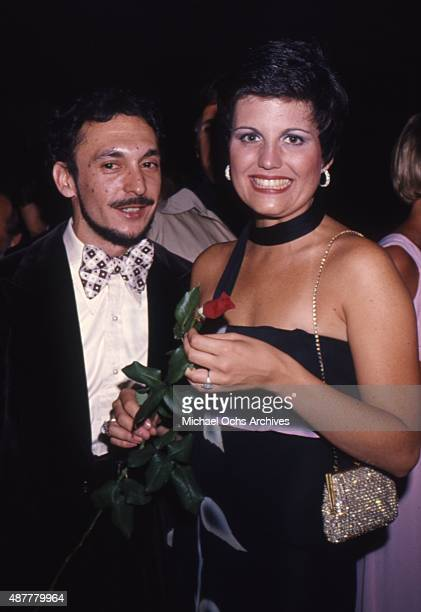 Musical theater director Michael Bennett attends an event with Lucie Arnaz in circa 1979