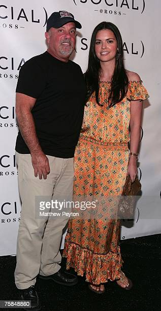 Musican Billy Joel and wife Katie Lee Joel arrives at Hampton Social @ Ross to watch a concert by Dave Matthews Band Tim Reynolds at the Ross School...