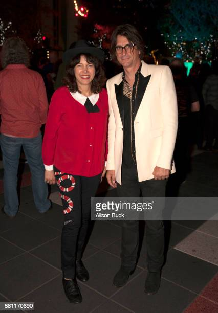 Musican Cindy Wasserman and guest attend An Evening With X at The GRAMMY Museum on October 13 2017 in Los Angeles California