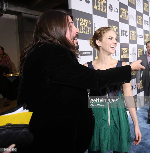 Musican Dave Grohl and wife Jennifer Youngblood attends the 25th Independent Spirit Awards Hosted By Jameson Irish Whiskey held at Nokia Theatre LA...