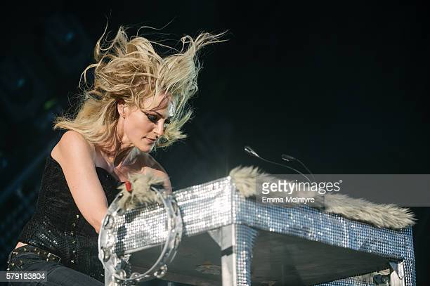 Musican Emily Haines of 'Metric' performs onstage at the 2016 Way Home Music Festival on July 22 2016 in OroMedonte Canada