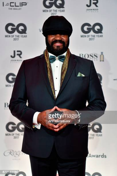 US musican Gregory Porter poses on the red carpet as he arrives for the GQ 'Men Of The Year' awards ceremony in Berlin on November 9 2017 / AFP PHOTO...