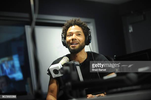 Musican Jussie Smollett attends Vists SiriusXM January 9 2018 at SiriusXM Studios on January 9 2018 in New York City