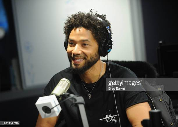 Musican Jussie Smollett vists the SiriusXM Studios on January 9 2018 in New York City