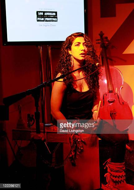 Musican Mona Tavakoli of the musical group Raining Jane performs onstage during the 2010 Los Angeles Film Festival at ZonePerfect live.create.lounge...