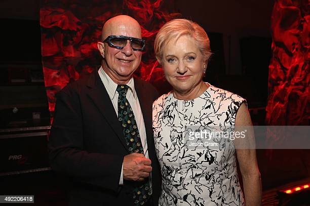 Musican Paul Shaffer and Loraine Boyle pose backstage during the 9th Annual Comedy Celebration presented by the International Myeloma Foundation at...