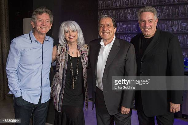 Musican Rodney Crowell musician Emmylou Harris Nonesuch Records President Bob Hurwitz and Vector Management's Ken Levitan gather for a photo at a...
