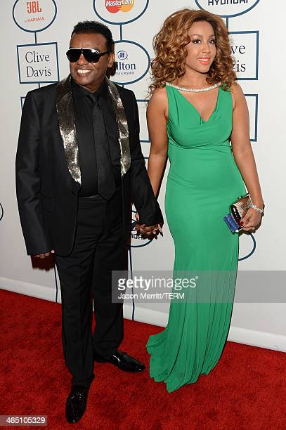 Musican Ron Isley and Kandy Johnson Isley attend the 56th annual GRAMMY Awards PreGRAMMY Gala and Salute to Industry Icons honoring Lucian Grainge at...